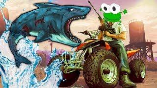СУМАСШЕДШАЯ ЖАБА В ГТА мультяшное прикольное видео   игра Amazing Frog