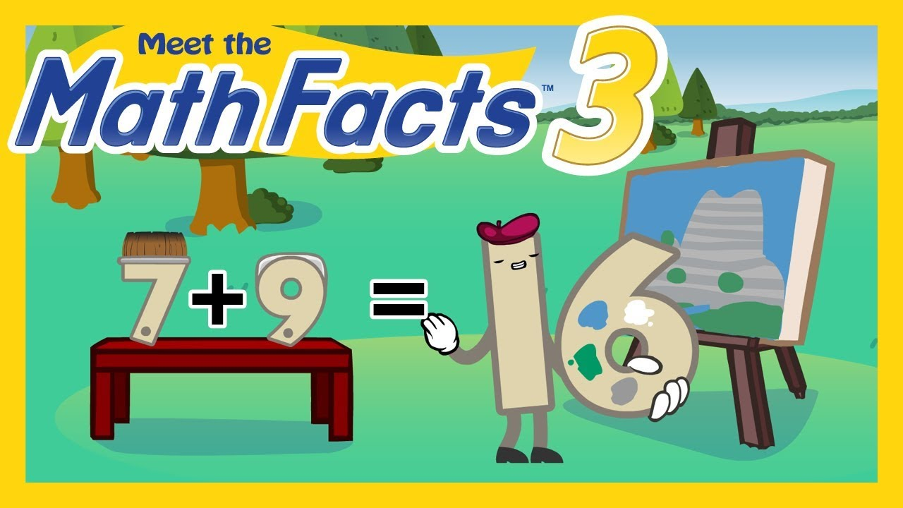 Meet the Math Facts Addition & Subtraction - 7 + 9 = 16 - YouTube