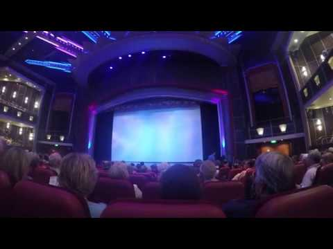 ROYAL CARIBBEAN FREEDOM OF THE SEAS ARCADIA THEATER COMEDY SHOW VIDEO PART 3