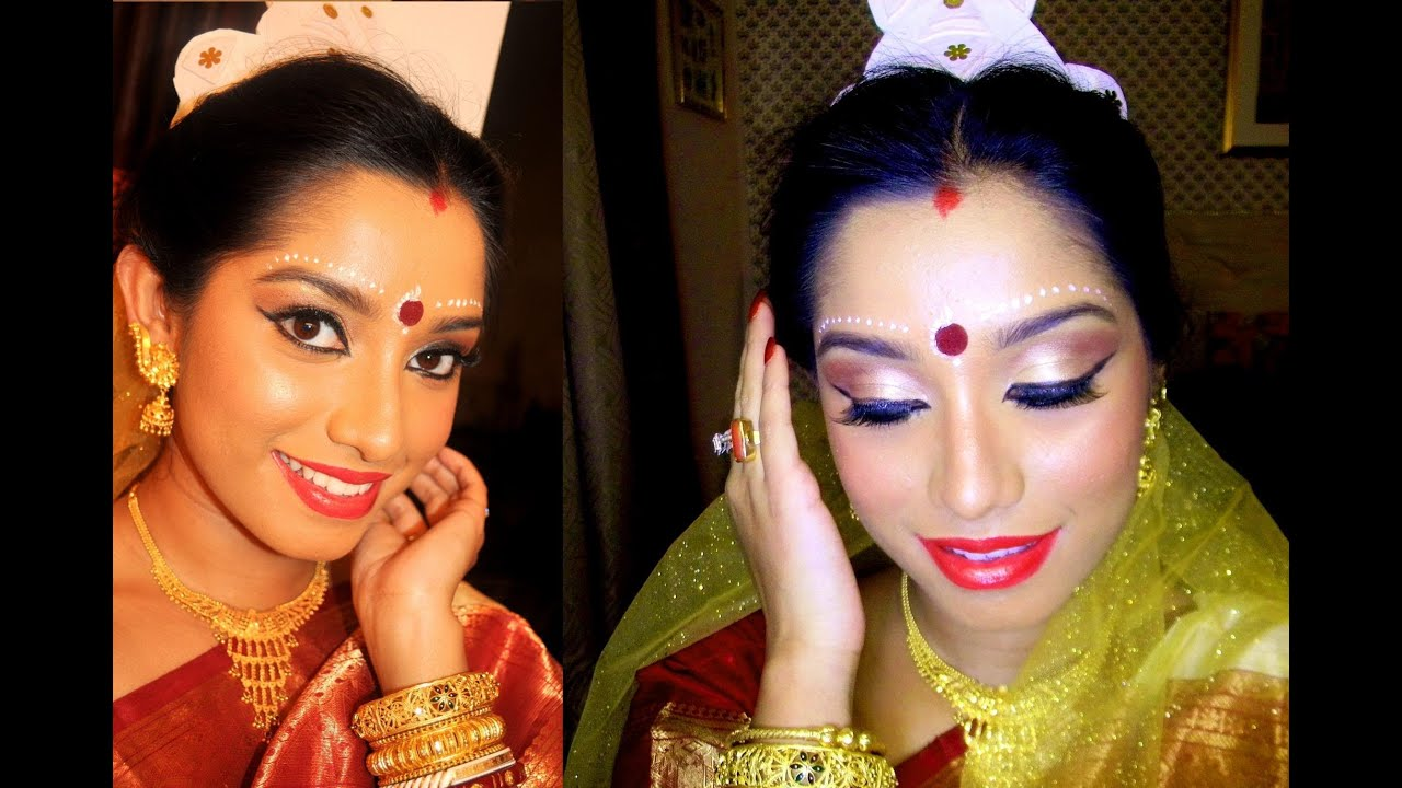indian bridal makeup tutorial (bengali bride) makeup