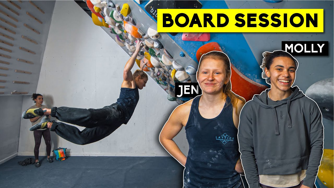 Board Session with Coach Jen and Molly Thompson-Smith