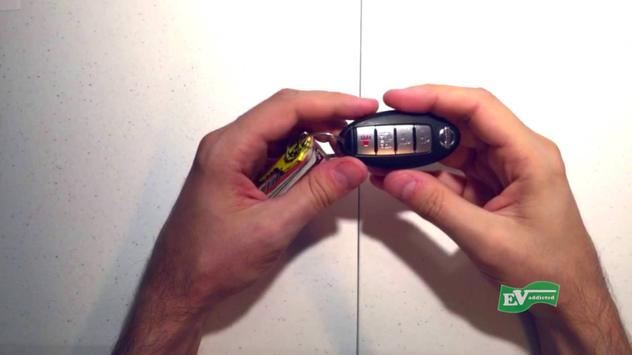 Nissan Leaf Remote Key Fob Battery Replace Youtube