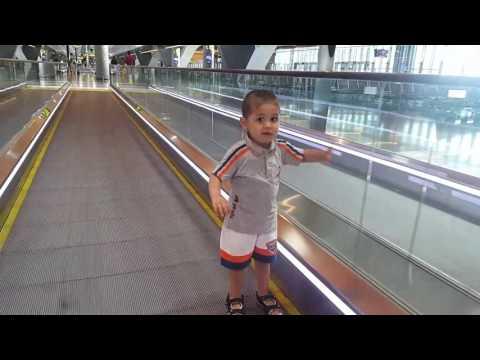 Anas enjoying  the amazing facilities  of Hamad international airport  Doha - Greater Qatar