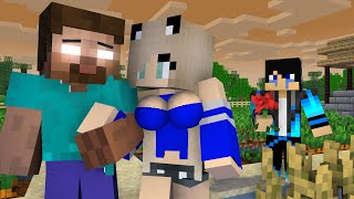 Monster school : Herobrine Reject Love From Beautiful girl - Minecraft sad animation