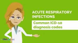 icd 10 codes for acute respiratory infections