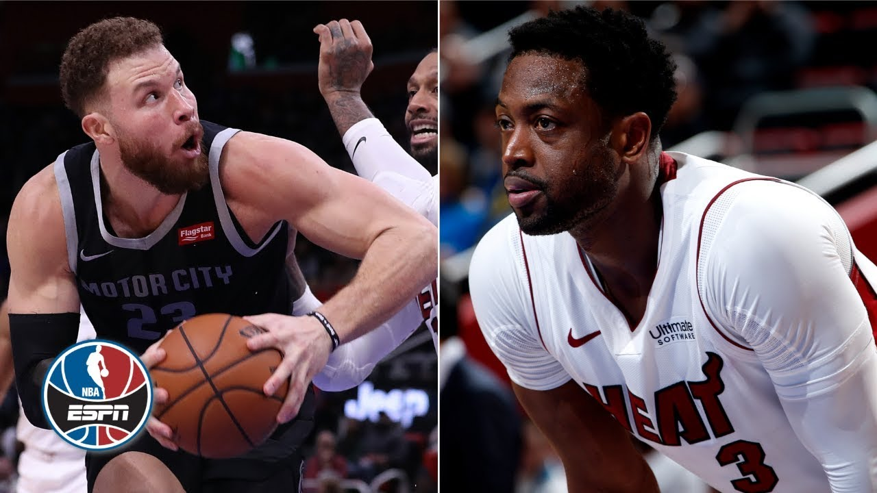 watch 0eab8 567b6 Blake Griffin, Dwyane Wade go back-and-forth in Pistons' win vs. Heat   NBA  Highlights