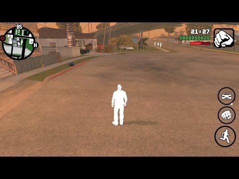 GTA SA белый персонаж нет текстур Android