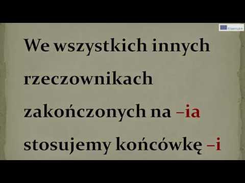 Język polski - Zakonczenia wyrazów ij,ii,i