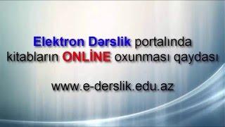 Elektron dərsliklərin online istifadə qaydası