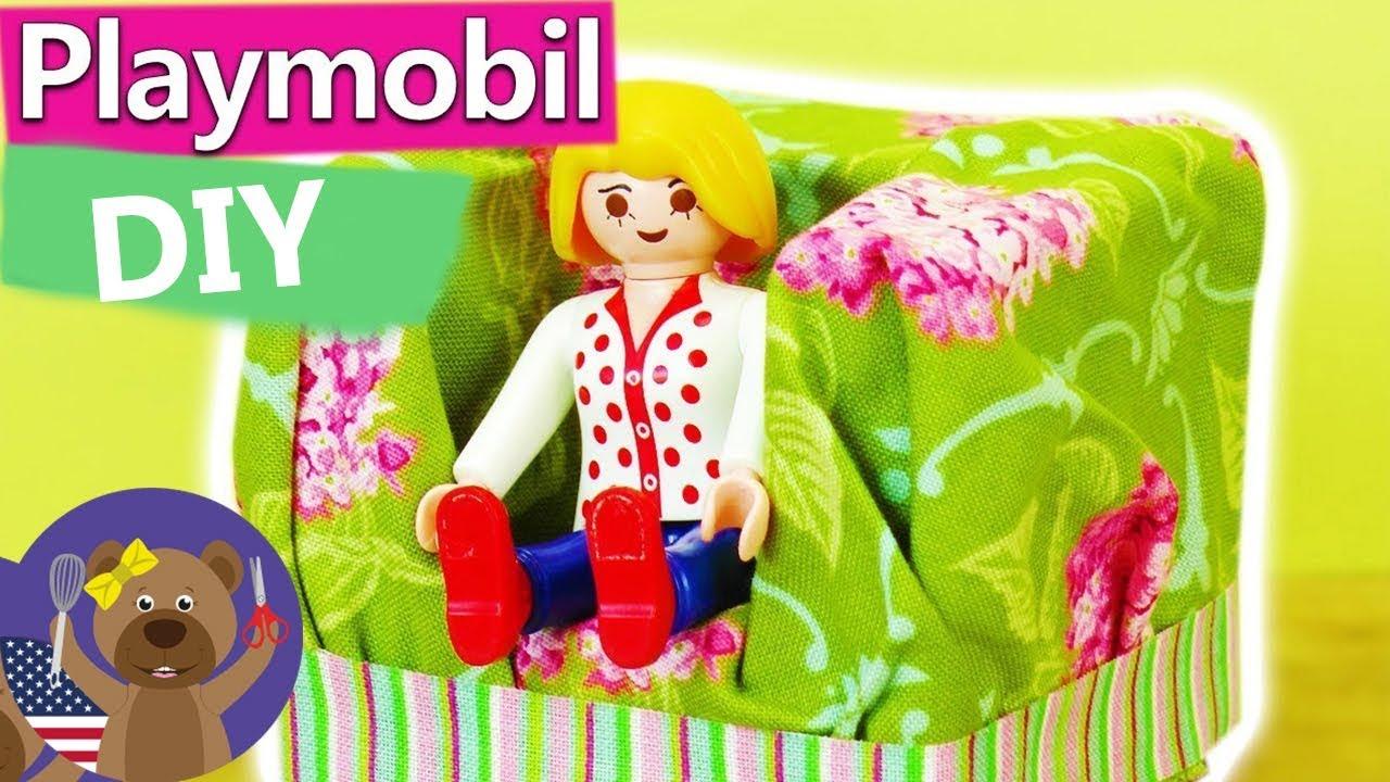 Playmobil Armchair DIY | Living Room Furniture Playmobil | DIY Toy Furniture