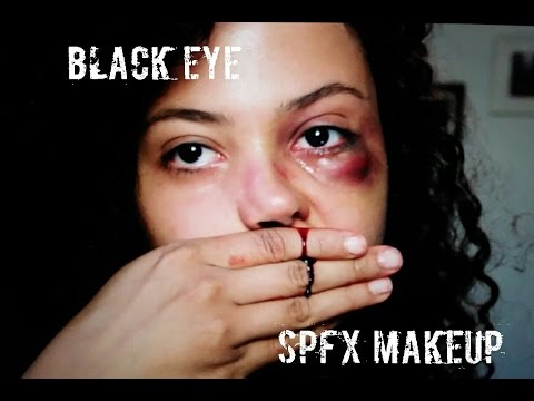 PUFFY BLACK EYE MAKEUP TUTORIAL