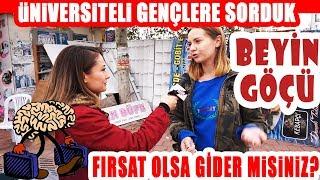 Üniversiteli Gençler Türkiye'de Yaşamak İstemiyor! Beyin Göçü Sorunu