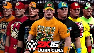 WWE 2K16 - John Cena Top 10 Attires - Community Creations!!