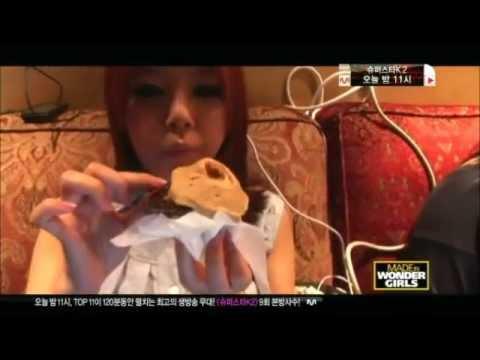 V Mouse Eating Scene Wonder Girls Funny Cli...