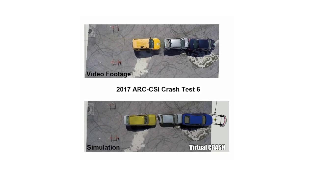 Virtual CRASH Simulation of 2017 ARC-CSI Crash Test 6 - YouTube