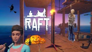 Часть 2 Raft В поисках тыквы или как мы праздновали Halloween