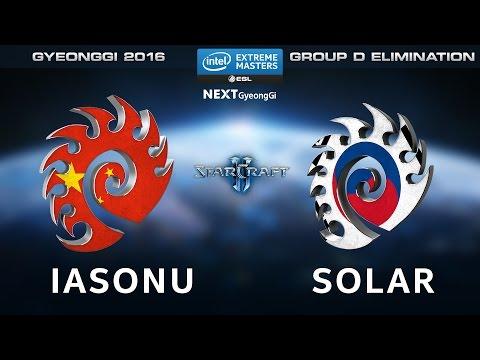 StarCraft 2 - iAsonu vs. Solar [ZvZ] - Group D Elimination - IEM Gyeonggi 2016