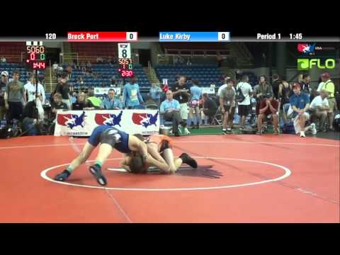 Cadet 120 - Brock Port (Pennsylvania) vs. Luke Kirby (Idaho)