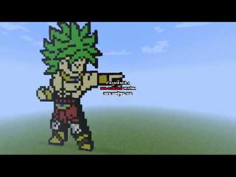 Broly Ss Légendaire Pixel Art Youtube