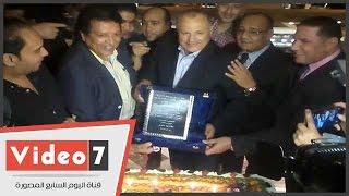 تكريم هانى أبو ريدة بعد فوزه بمقعد المكتب التنفيذى لـ