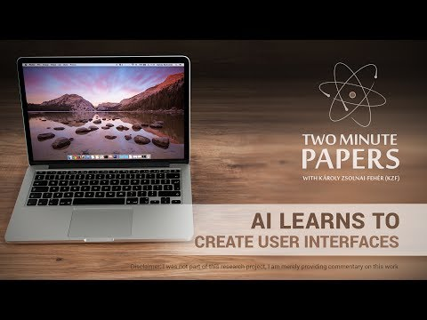 AI Learns To Create User Interfaces (pix2code) | Two Minute Papers #161