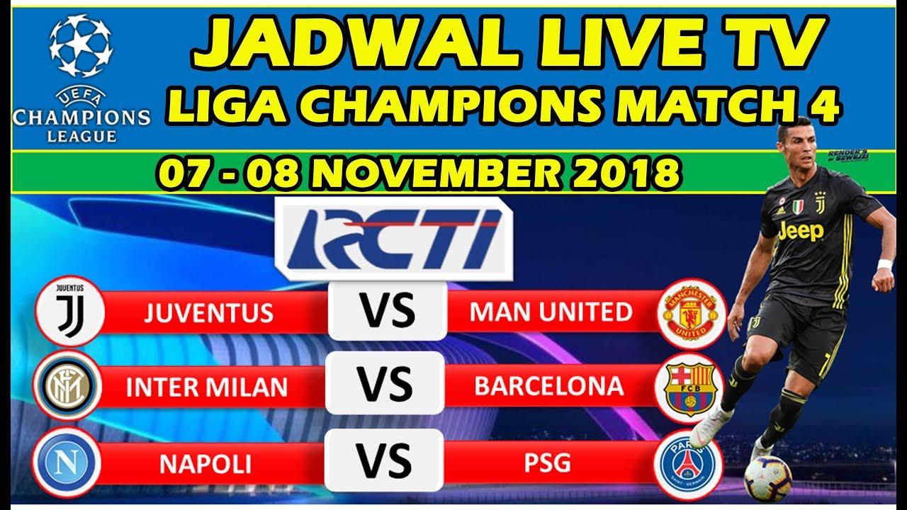 Jadwal Live Tv Liga Champions Matchday 4 Big Match Juventus Vs Man United Inter Vs Barcelona Youtube