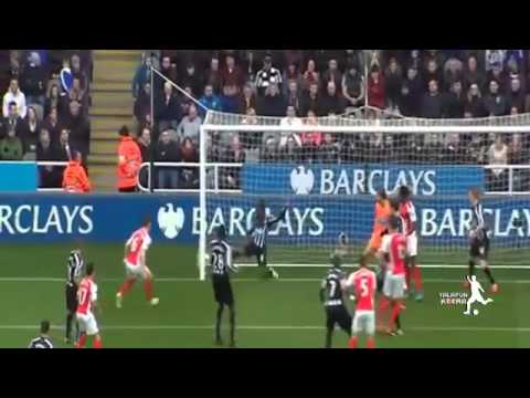 Newcastle United vs Arsenal 1 2 All Goals Highlights 2015