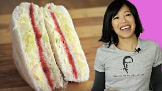 DIY INKIGAYO Sandwich - the egg salad, STRAWBERRY JAM & cabbage K-POP STAR sandwich