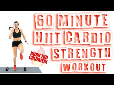 60 Minute HIIT Cardio Strength Workout ��Burn 750 Calories! ��