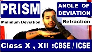 Angle Of Deviation in PRISM : MInimum Deviation Condition : Class 10,12 CBSE ICSE ISC thumbnail