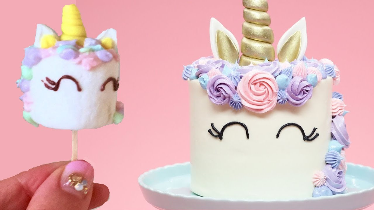 No Fondant Unicorn Birthday Cakes Basic