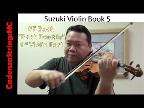 Bach Double | First Violin Part | Suzuki Violin Book 5