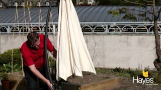 How to put a cover on an Alexander Rose Cantilever Parasol