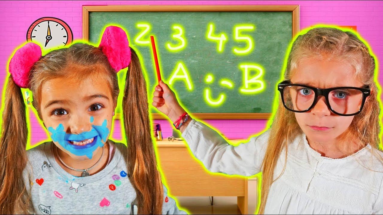 Las Ratitas aprenden colores en ingles en la escuela pretend play learn colors at school