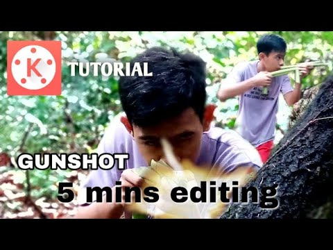 How to make realistic gun fire effect on kinemaster