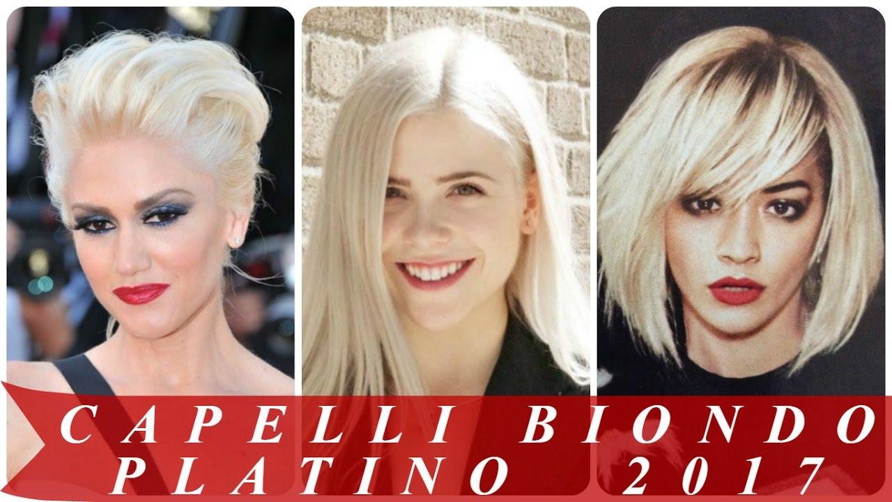 Exceptionnel Capelli biondo platino 2017 - YouTube PF42