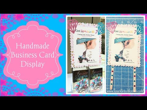 DIY: How to Make a Handmade Vertical Business Card Table Top Display for Craft Fairs