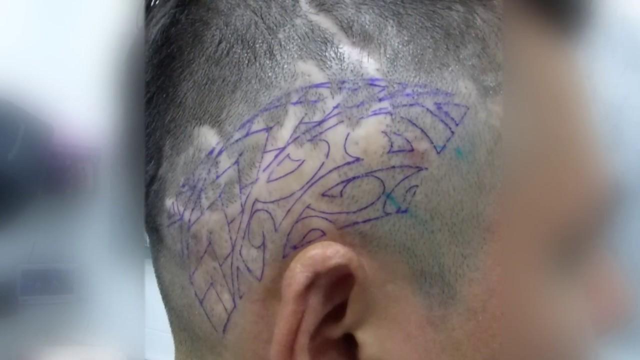 Tapado De Cicatrices Con Tatuaje Polinesio By Acme Tattoo