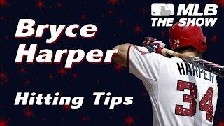 MLB 15 The Show - BRYCE HARPER hitting tips