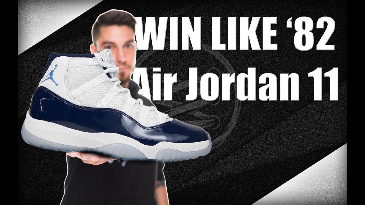 """e378f4288c1b1a Air Jordan 11 """"Win Like  82"""" - YouTube"""