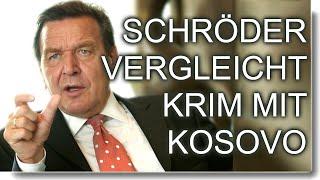 Völkerrecht - Schröder vergleicht Krim mit Kosovo