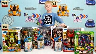 Огромная посылка с игрушками: Тоботы Трансформеры, КарБот и мини фигурки пилотов Тоботов.