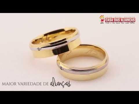 Aliança de Ouro Anatômica Filete em Ouro Branco- AS0266 - YouTube 3e24b9ff27