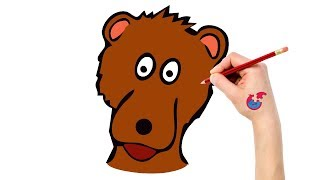 Learning How To Draw Animals For Toddlers Bear - Puzzle Kid Drawing