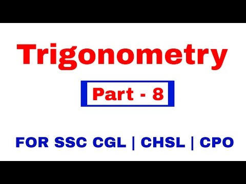 Trigonometry for SSC CGL | CHSL | CPO  [In Hindi] Part - 8