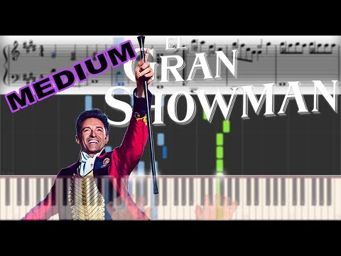 The Greatest Showman - A Million Dreams | Sheet Music & Synthesia Piano Tutorial thumbnail