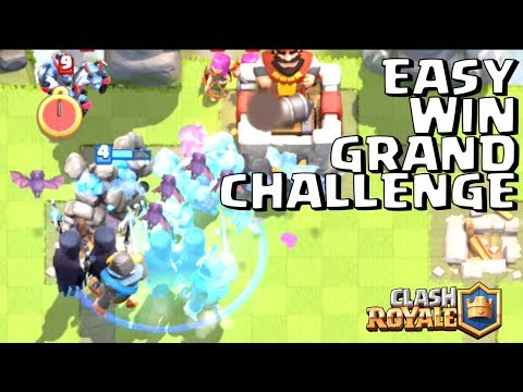 EASY GRAND CHALLENGE PAKE DECK CLONE SUPER INI! • Clash Royale Indonesia