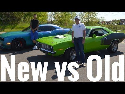 Old School Muscle vs New School Muscle !! Hemi Cuda vs Hellcat !!