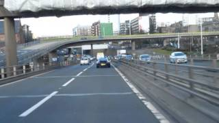 Glasgow, Lanarkshire, Scotland. The M8 Motorway, City Centre (15feb2013)