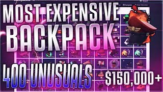 TF2 - The Most Expensive Backpack In TF2 ($150,000) 400+ Unusuals, 80,000+ Keys!